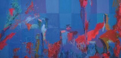 Bodegón azul. Cristina Prieto Crespi.