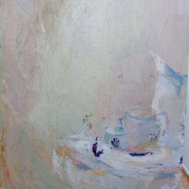 Bodegón blanco. Óleo 116x89 cm