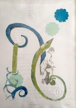 Recorrido VI- Grafito, Transfer y Monotipo.( 50 x 70 cm)