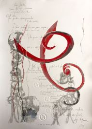 Recorrido VII-Grafito,Transfer y Monotipo.( 50 x 70 cm)