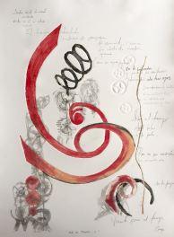 Recorrido VIII-Grafito,Transfer y Monotipo.( 50 x 70 cm)