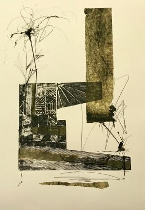 Natura XXXVII. Monotipo. 70 x 50 cm.
