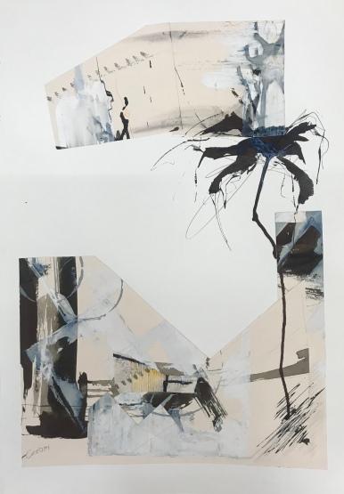 Analogía XXIV. 2019. Acuarela y tinta china. 50x70cm.