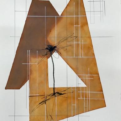 Analogía XXI. 2019. Acuarela y tinta china. 50x70cm.