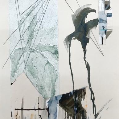 Analogía XXXI. Acuarela y tinta china, 25 x 35cm.