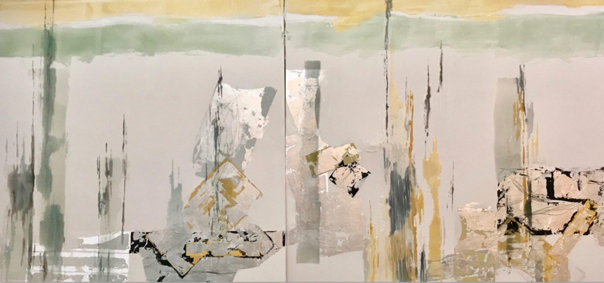 Analogía III. 2019. Resina sobre lienzo, 100 x 200cm.