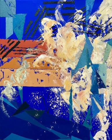 Natura XII. 2017. Óleo sobre lienzo, 100 x 81 cm
