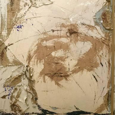 Natura XVI. 2017. Técnica mixta y óleo sobre lienzo, 130 x 97 cm