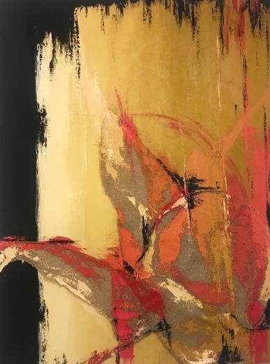 Natura XV. 2017.Técnica mixta y óleo sobre lienzo, 130 x 97 cm
