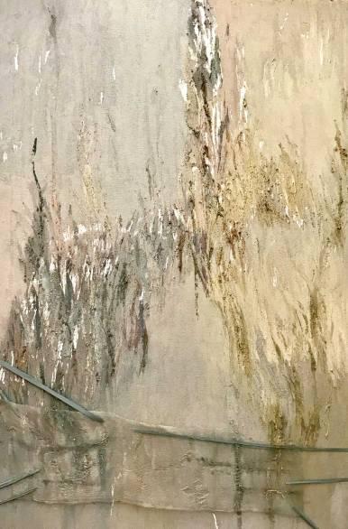 Natura XVII. 2017. Técnica mixta y óleo sobre lienzo, 130 x 97 cm