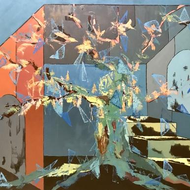 Natura VII. 2017. Óleo sobre lienzo, 114 x 147 cm