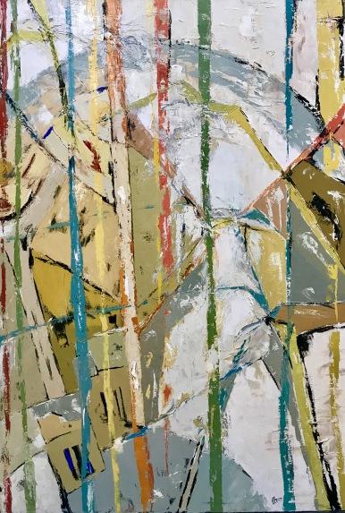 Natura VIII. 2017. Óleo sobre lienzo, 130 x 89 cm