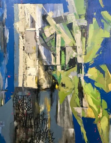 Natura VI. Técnica mixta y óleo sobre lienzo, 147 x 114 cm