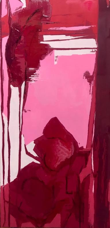 Analogía II.2019 . Técnica Mixta sobre lienzo. 120 x 60cm.